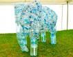 Детское эко-творчество: скульптура слона из 900 переработанных пластиковых бутылок