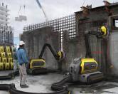 Робот-разрушитель, перерабатывающий строительные отходы