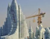 Китайцы возвели ледяную многоэтажку