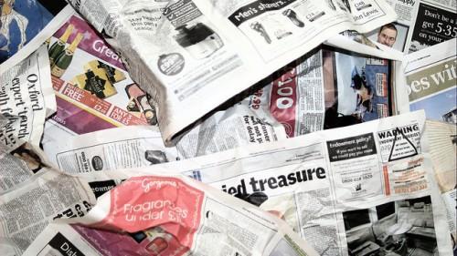 Старые газеты - упаковочный материал