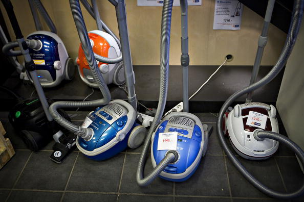 Electrolux Vacuum cleaners on display in a store in Stockhol