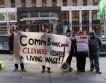 Протест клинеров в Сиднее