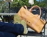 Сумки и рюкзаки из переработанной бумаги, помещающиеся в кармане