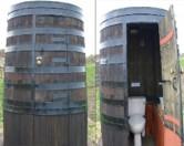 Уникальный туалет в форме барреля виски