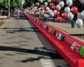 В Саратове появился самый длинный диван на планете.