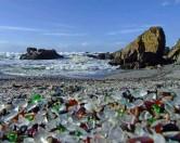 Необычный пляж из стекла в Калифорнии