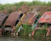 Жители Детройта нашли оригинальный способ использования ржавых машин