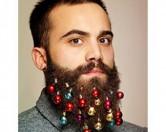Британская компания пустила в продажу рождественские украшения для бороды