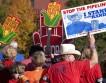 В Штатах арестовали 65 протестующих экологов